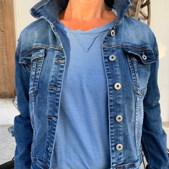NEW!  CHAQUETA DENIM BLUE ALAS